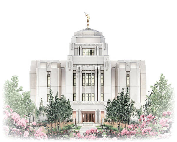 Meridian Poster featuring the digital art Meridian Temple - Celestial Series by Brent Borup
