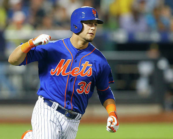 American League Baseball Poster featuring the photograph Michael Conforto by Jim Mcisaac