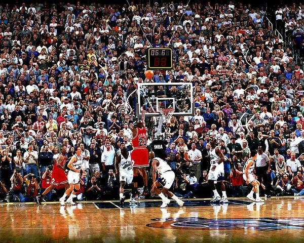Chicago Bulls Poster featuring the photograph Michael Jordan by Fernando Medina