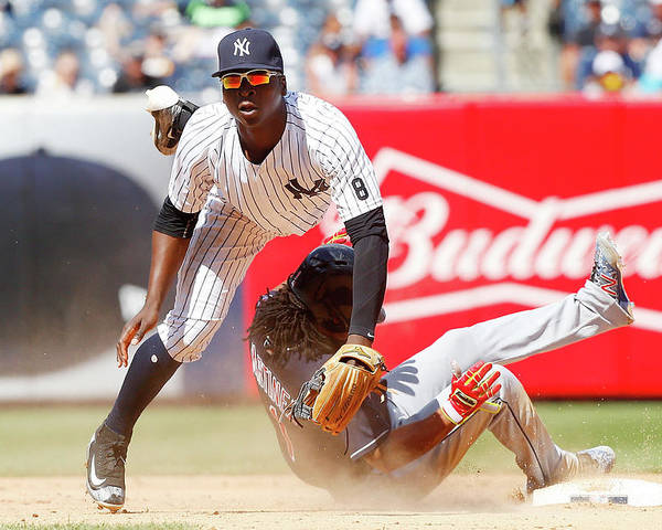 Double Play Poster featuring the photograph Michael Martinez and Didi Gregorius by Jim Mcisaac