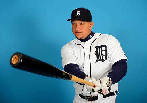 Media Day Poster featuring the photograph Miguel Cabrera by Mark Cunningham
