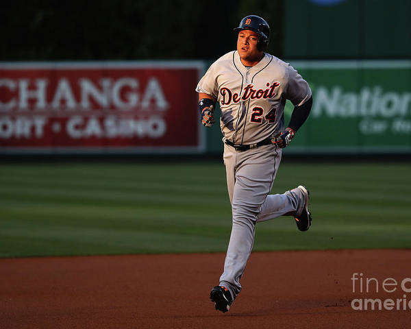 People Poster featuring the photograph Miguel Cabrera by Sean M. Haffey