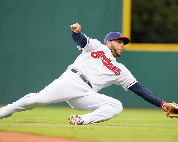 American League Baseball Poster featuring the photograph Mike Aviles by Jason Miller