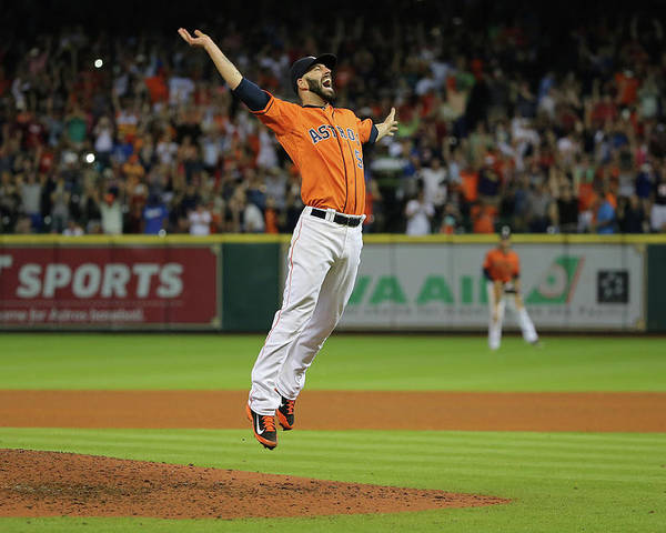 People Poster featuring the photograph Mike Fiers by Scott Halleran