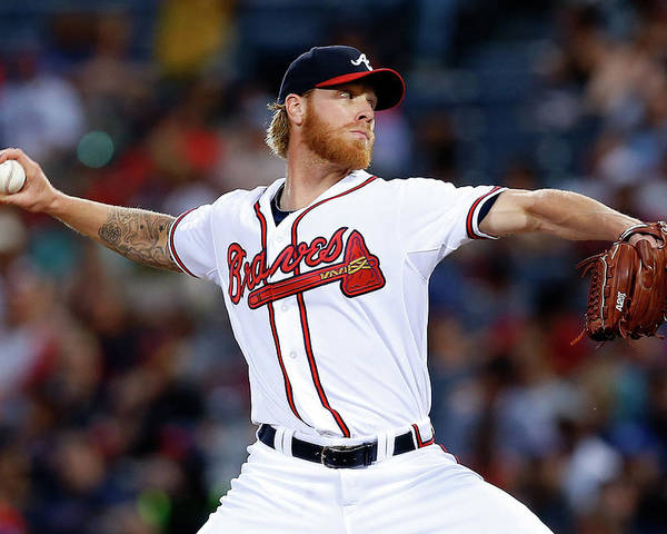 Atlanta Poster featuring the photograph Mike Foltynewicz by Mike Zarrilli