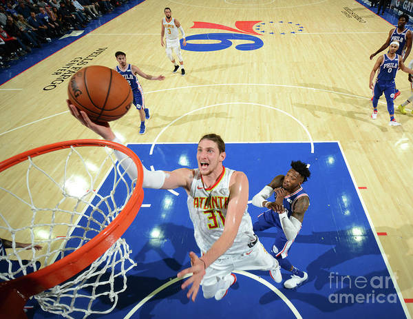Nba Pro Basketball Poster featuring the photograph Mike Muscala by Jesse D. Garrabrant