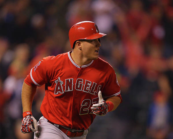 People Poster featuring the photograph Mike Trout by Justin Edmonds