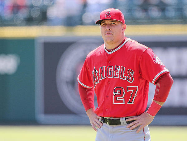 People Poster featuring the photograph Mike Trout by Leon Halip