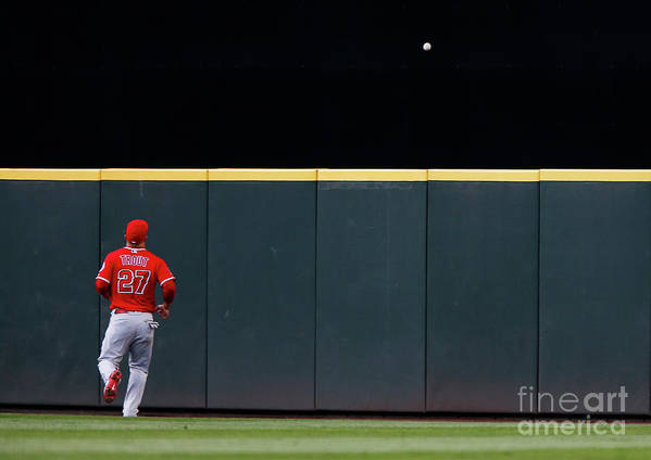 People Poster featuring the photograph Mike Trout by Lindsey Wasson