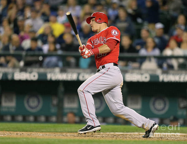 People Poster featuring the photograph Mike Trout by Otto Greule Jr
