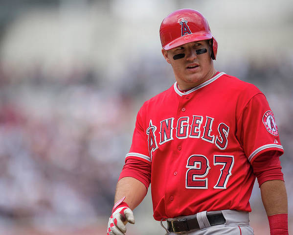 Mike Trout Poster featuring the photograph Mike York by Rob Tringali