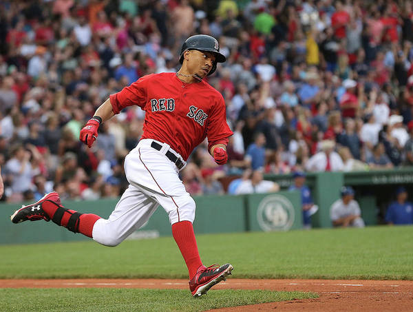 People Poster featuring the photograph Mookie Betts by Jim Rogash