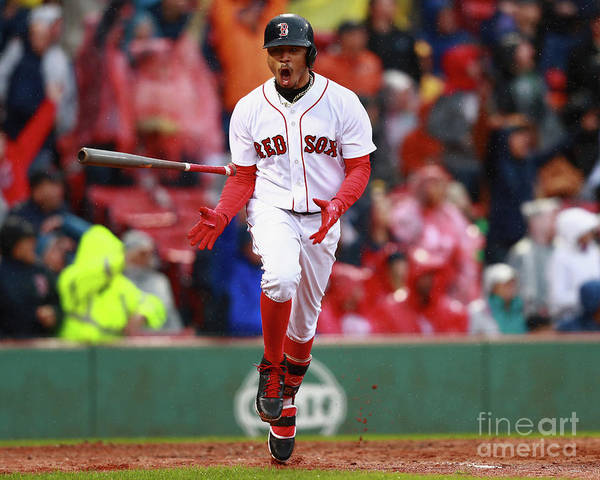 People Poster featuring the photograph Mookie Betts by Omar Rawlings