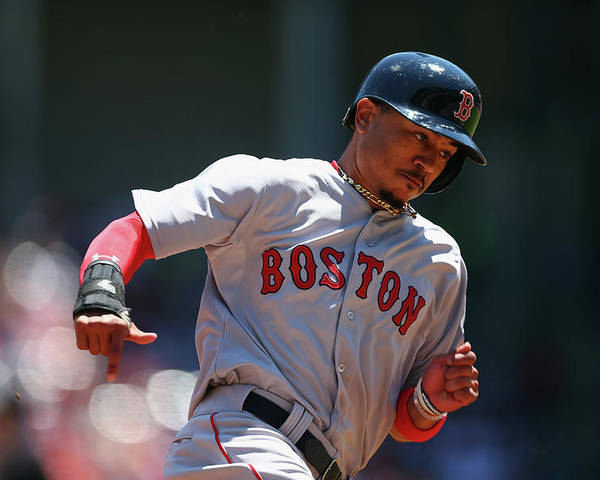 People Poster featuring the photograph Mookie Betts by Ronald Martinez