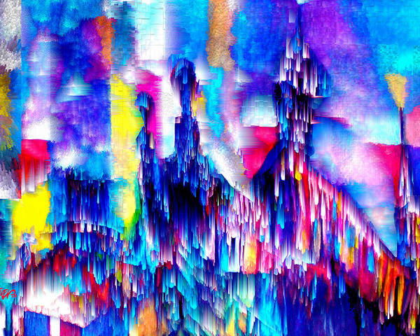 City Lights Poster featuring the mixed media Music of the City by Seth Weaver