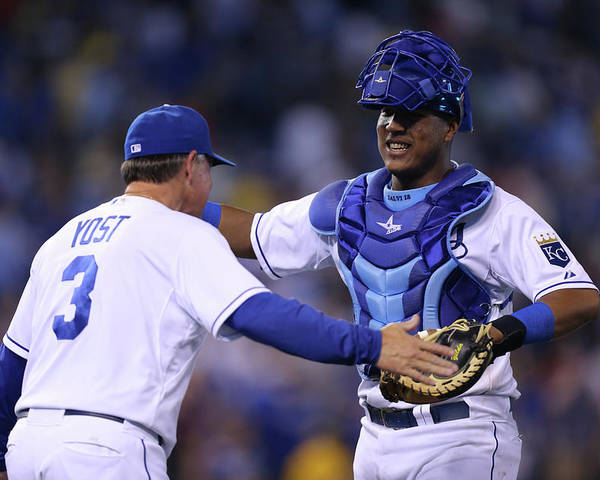 Salvador Perez Diaz Poster featuring the photograph Ned Yost by Ed Zurga