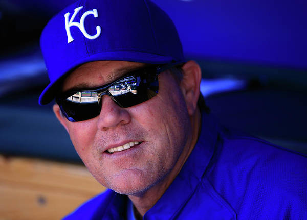 American League Baseball Poster featuring the photograph Ned Yost by Jamie Squire