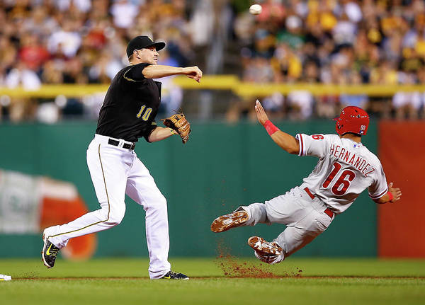 Double Play Poster featuring the photograph Neil Walker by Jared Wickerham