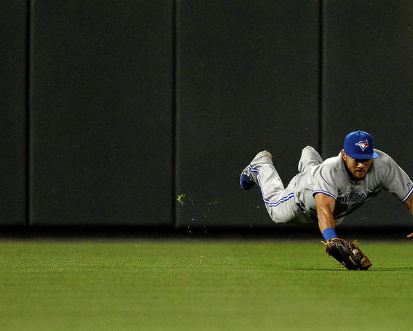 American League Baseball Poster featuring the photograph Nelson Cruz and Melky Cabrera by Patrick Smith