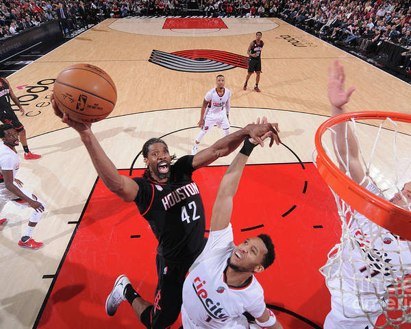 Nba Pro Basketball Poster featuring the photograph Nene Hilario by Sam Forencich