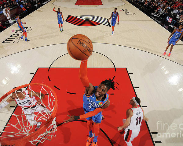 Playoffs Poster featuring the photograph Nerlens Noel by Cameron Browne