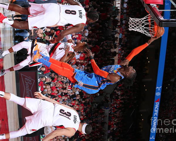 Playoffs Poster featuring the photograph Nerlens Noel by Sam Forencich