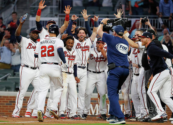 Atlanta Poster featuring the photograph Nick Markakis by Kevin C. Cox