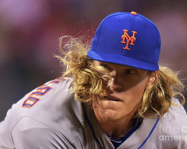 People Poster featuring the photograph Noah Syndergaard by Drew Hallowell