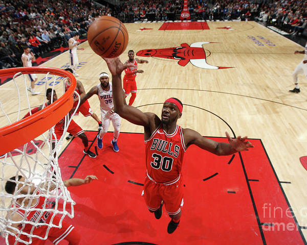 Nba Pro Basketball Poster featuring the photograph Noah Vonleh by Gary Dineen
