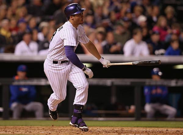 National League Baseball Poster featuring the photograph Nolan Arenado by Doug Pensinger