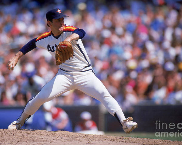 1980-1989 Poster featuring the photograph Nolan Ryan by Ron Vesely