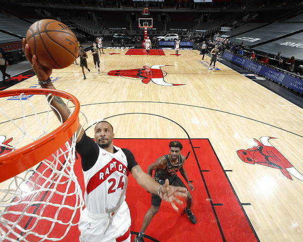 Nba Pro Basketball Poster featuring the photograph Norman Powell by Jeff Haynes