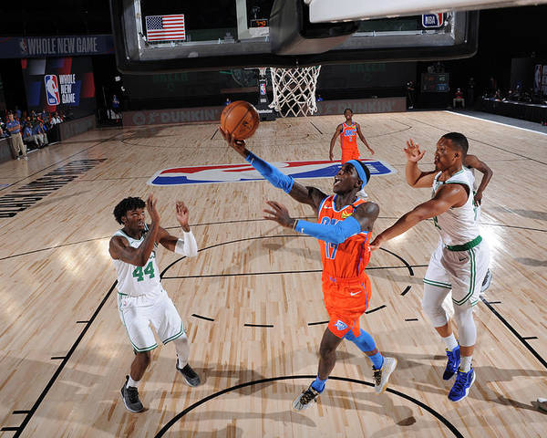 Nba Pro Basketball Poster featuring the photograph Oklahoma City Thunder v Boston Celtics by David Sherman