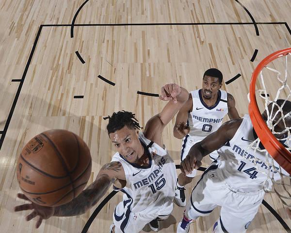 Nba Pro Basketball Poster featuring the photograph Oklahoma City Thunder v Memphis Grizzlies by Joe Murphy