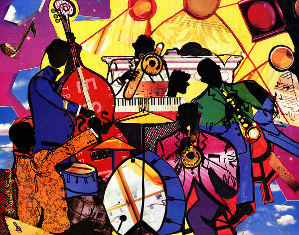 Everett Spruill Poster featuring the painting Old School Jazz by Everett Spruill