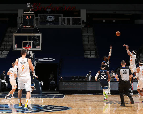Nba Pro Basketball Poster featuring the photograph Orlando Magic v Minnesota Timberwolves by David Sherman