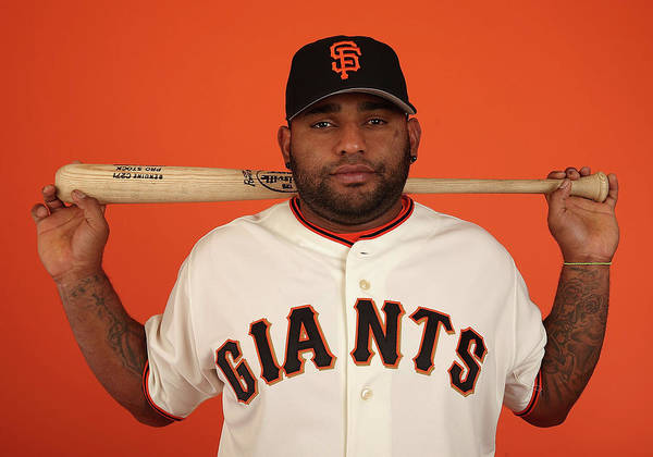 Media Day Poster featuring the photograph Pablo Sandoval by Christian Petersen
