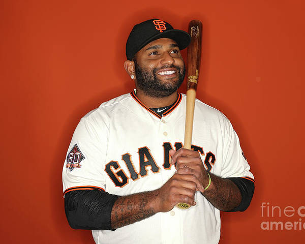 Media Day Poster featuring the photograph Pablo Sandoval by Patrick Smith