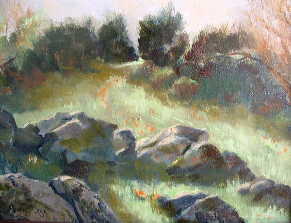 Landscape Poster featuring the painting Paradise on the road to Rancho Guejito by Bryan Alexander