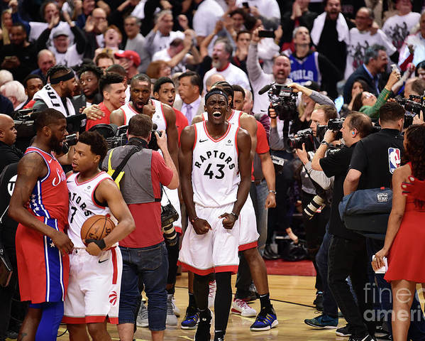 Playoffs Poster featuring the photograph Pascal Siakam by David Dow