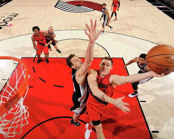 Nba Pro Basketball Poster featuring the photograph Pat Connaughton by Cameron Browne