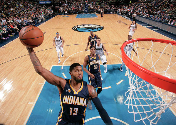 Nba Pro Basketball Poster featuring the photograph Paul George by Glenn James