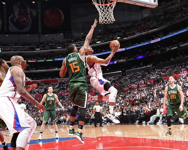 Playoffs Poster featuring the photograph Paul Pierce by Andrew D. Bernstein