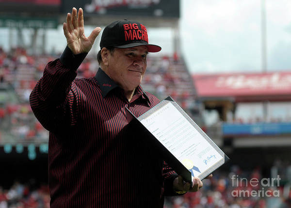 Great American Ball Park Poster featuring the photograph Pete Rose by Dylan Buell