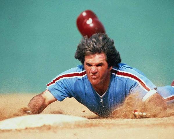 1980-1989 Poster featuring the photograph Pete Rose by Ronald C. Modra/sports Imagery