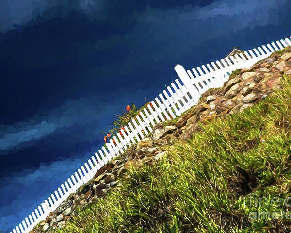 White Picket Fence Poster featuring the photograph Picket fence, Cezanne style by Sheila Smart Fine Art Photography