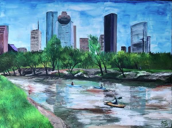 River Poster featuring the painting Pon de River by Lauren Luna