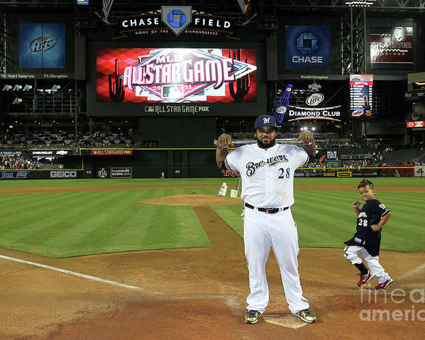 American League Baseball Poster featuring the photograph Prince Fielder by Jeff Gross