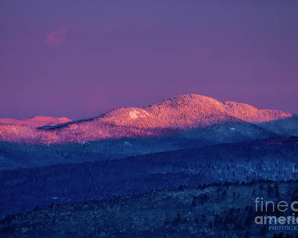 Purple Poster featuring the photograph Purple Mountains Majesty - Mount Crosby,Bald Knob by Christine Segalas