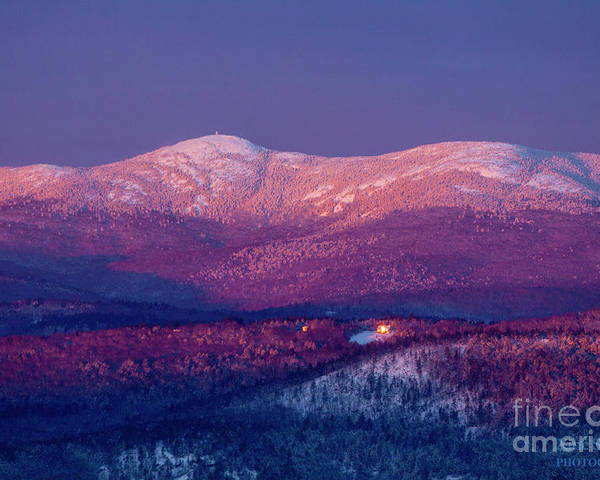 Sunrise Poster featuring the photograph Purple Mountain Majesty - Cardigan by Christine Segalas